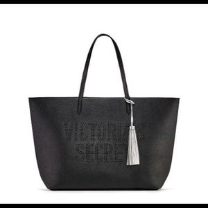 NWT Victoria Secret black tote bag. Must go!